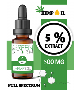 Huile de chanvre spectre complet 5% 500mg 10ml | Hemp Oil Full spectrum|