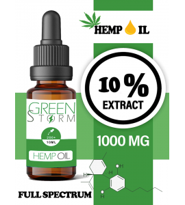 Huile de chanvre spectre complet 10% 500mg 10ml | Hemp Oil Full spectrum|