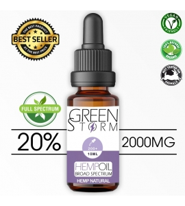 Huile de Chanvre BIO Broad Spectrum 20% 2000 mg 10 ml saveur Hemp Natural